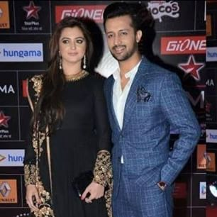 Atif Aslam & his wife Sarah Aslam